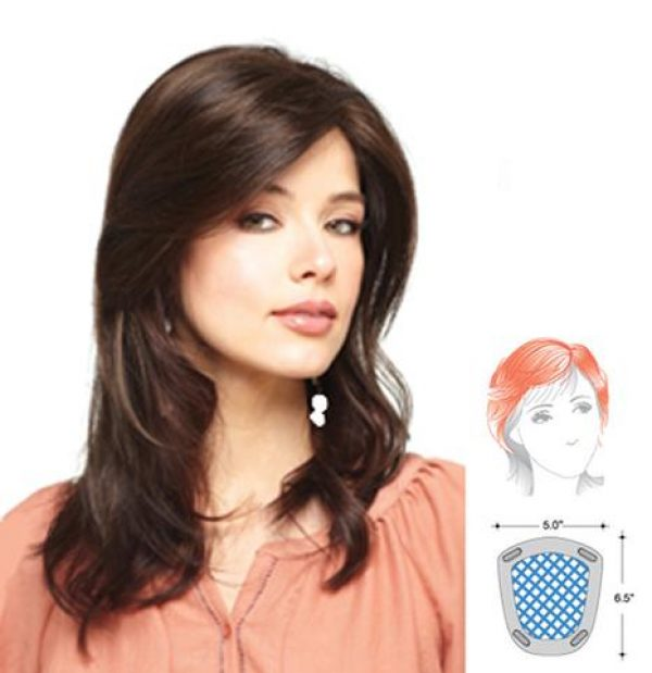Long Mono Top 752 Topper Hairpiece by Amore - gal-diagram