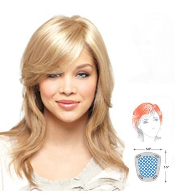 Medium Mono Top 751 Topper Hairpiece by Amore - gal-diagram