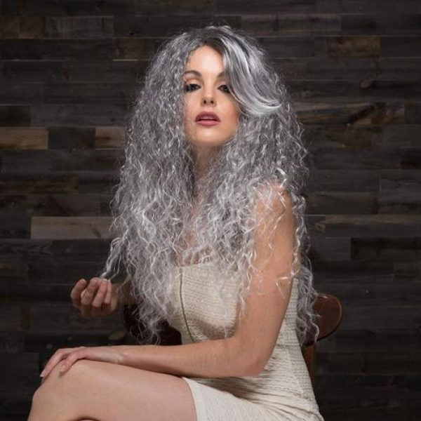NOVA by Blush Hair Fantasy Wigs - CHARCOAL ICE - Silver Mist with Lighter Tipped Ends
