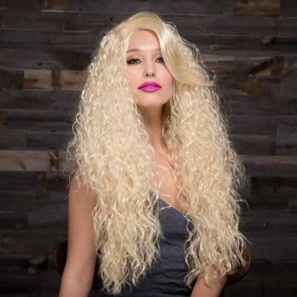 NOVA by Blush Hair Fantasy Wigs - CALI BLONDE - Pale Gold Blonde with Lighter Tipped Ends