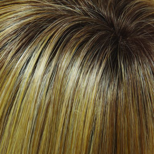 24B/27CS10 - Light Golden Blonde & Light Red-Golden Blonde Blend with Medium Brown Shaded Root