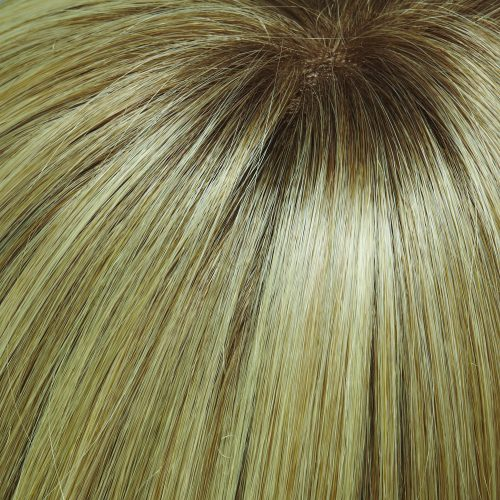 24B613S12 - Light Golden Blonde & Pale Blonde with Light Golden Brown Shaded Root