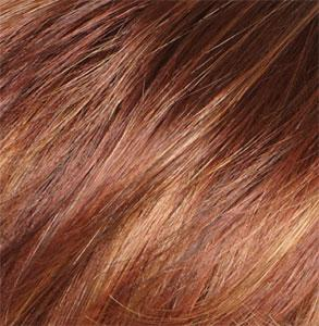 IRISH SPICE - Medium Auburn Base and Dark Honey Blonde Highlights