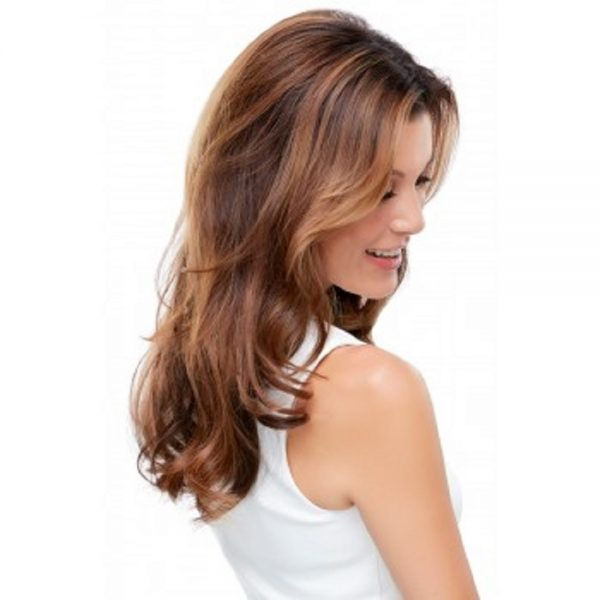 "Human Hair EasiCrown 18"" Topper - EasiHair Mono -backside"