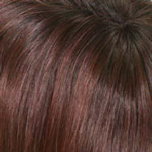 CHOCOLATE CHERRY - Medium Brown and Deep Red Highlights with Dark Brown Roots