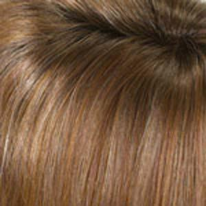 CREAMED COFFEE - Medium Brown and Cinnamon with Golden Blonde Highlights and Medium Brown Roots