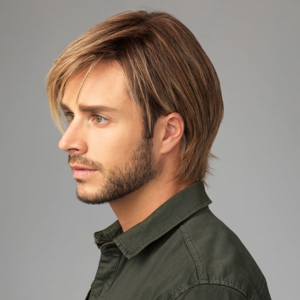Chiseled Men's Wig All Handtied Lace Front Mono Top - sideL