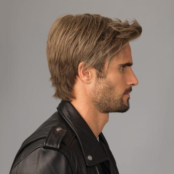 Edge Men's Wig Lace Front Monofilament Crown side