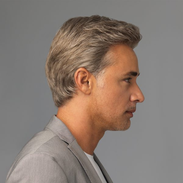 Sophistication Men's Wig Lace Front Monofilament Top back side