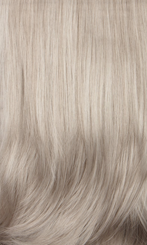 60R - Silver White with Light Brown & 85% Gray Roots