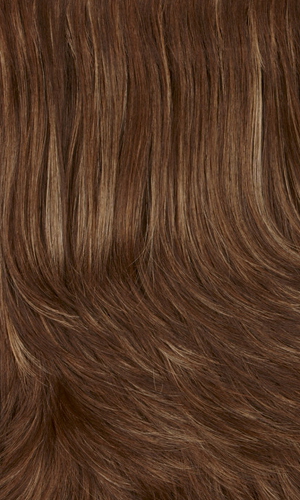 8/14H - Medium & dark brown with dark blonde & subtle auburn highlights