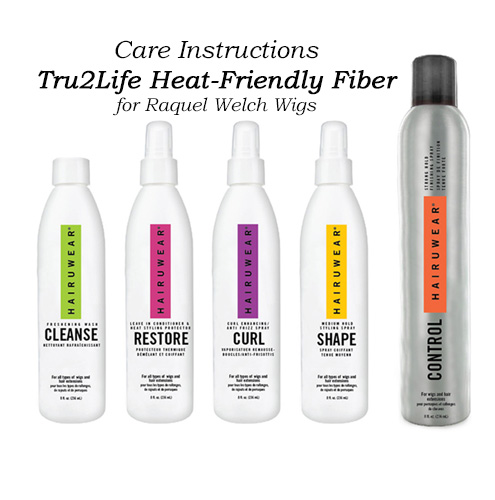 Raquel Welch Care Information Tru2Life Heat-Friendly