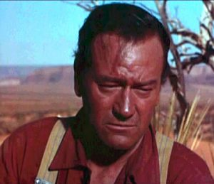 john wayne wore a movie wig in the searchers
