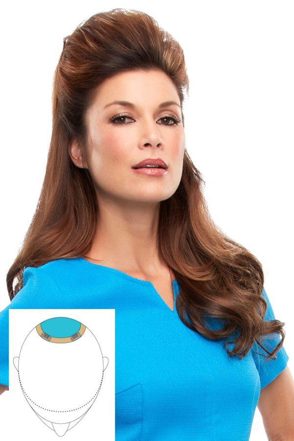 Human Hair Top This 16 Topper EasiHair Mono ClipIn -wBase