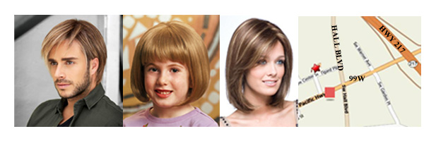 Wigs for Men, Women and Children