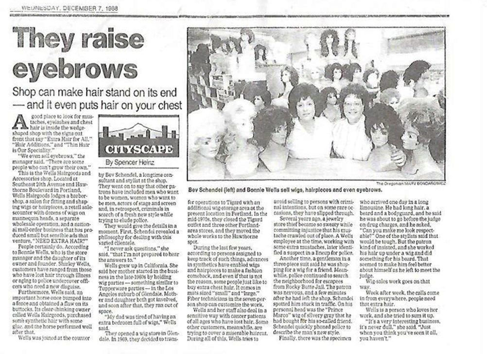 December 1998 Wells Article - they raise eyebrows