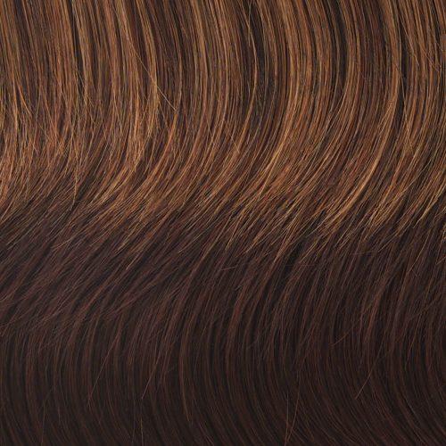 R3329S - GLAZED AUBURN - Rich Dark Reddish Brown with Pale Peach Blonde Highlights