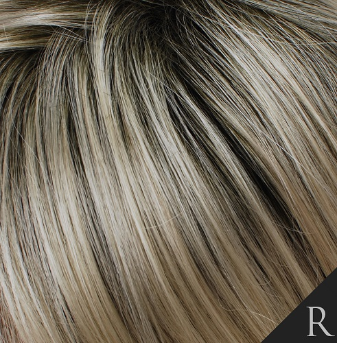 ROOTED BLONDE - Vanilla Blonde with Shaded Brown Roots