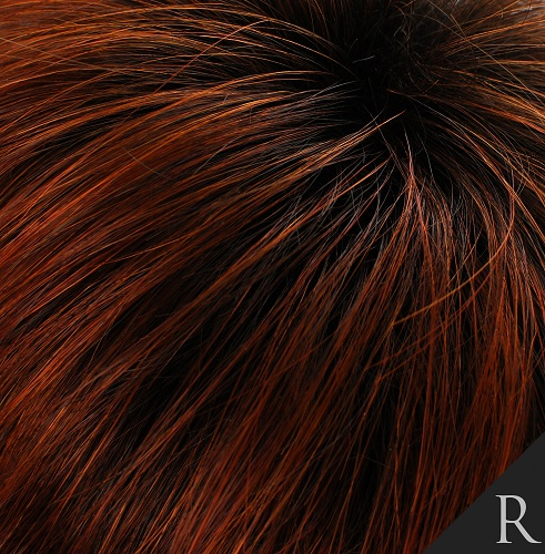ROOTED FIRE - 4 Root with Dark Auburn Ends