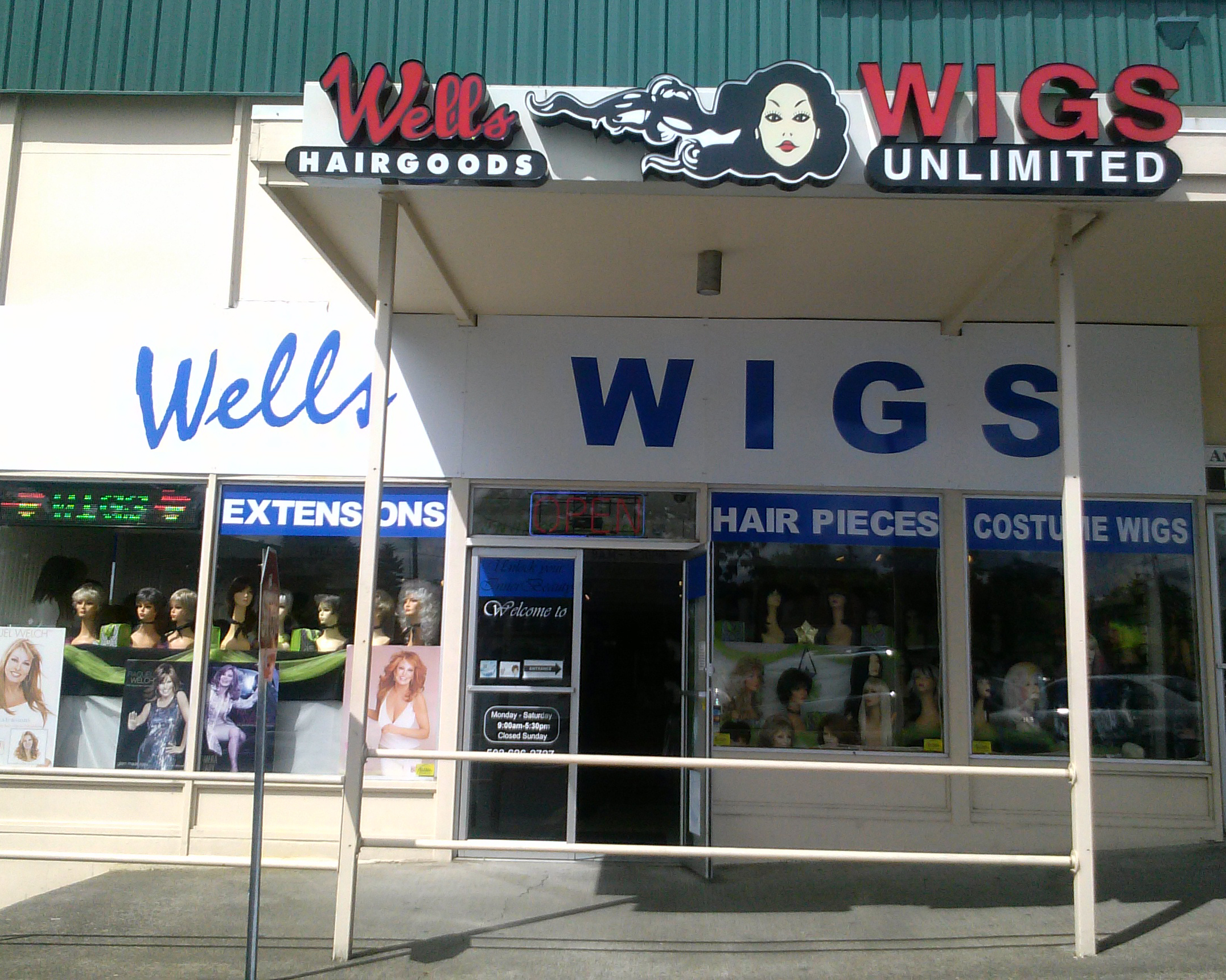 stoWigs Unlimited retail store providing wigs for the greaterSalem and McMinnville, Oregonareas.