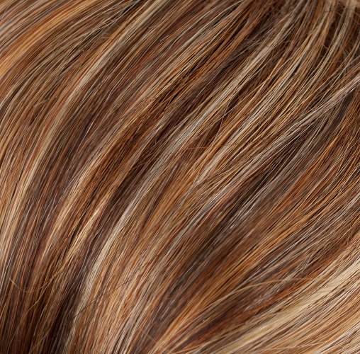TANGERINE TWIST - Gold Blonde & Warm Auburn Blend with Chunky Strawberry Highlights
