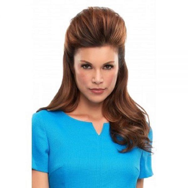 "Human Hair Top This 16"" Topper EasiHair Mono ClipIn"